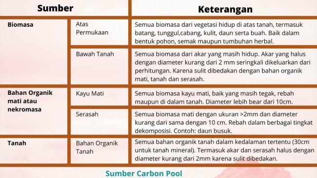 manfaat menanam pohon untuk sumber carboon pool
